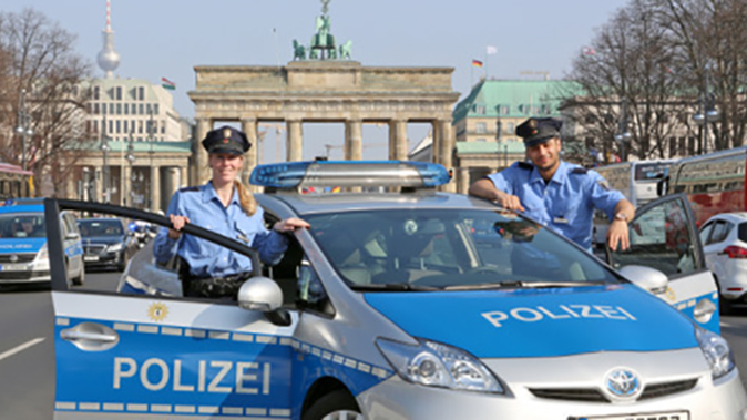 Berlin Police vehicle