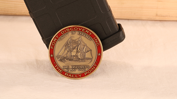 Fort Discovery Expedition rifle challenge coin