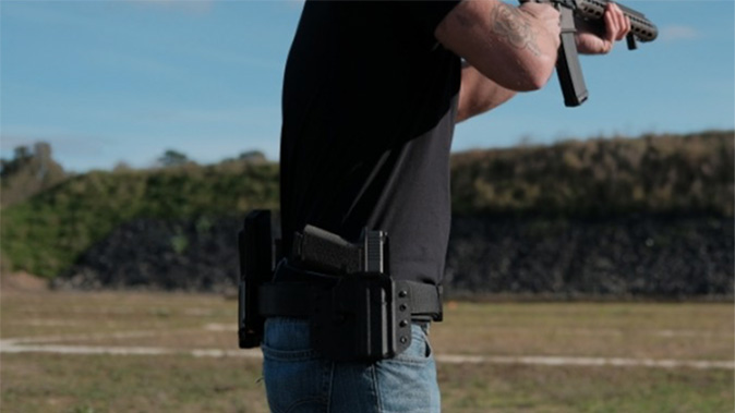 high threat concealment qrs salvo holster rig pistol