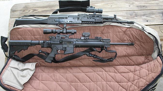 Hogue Double Rifle Bag gun bags open profile