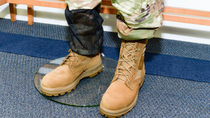 army jungle combat boot closeup