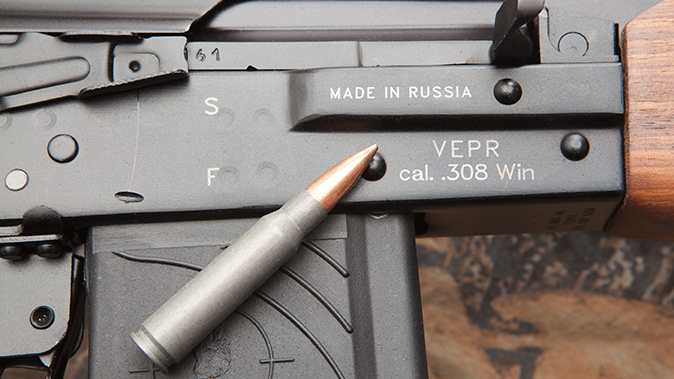 K-VAR VEPR rifle 308 cartridge