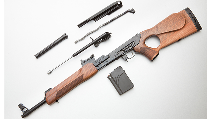 K-VAR VEPR rifle field stripped