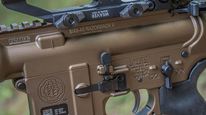 LWRCI SIX8-A5 Razorback II rifle controls