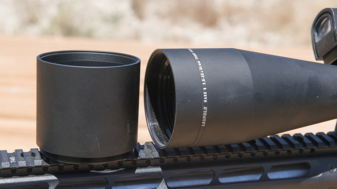 Leupold Mark 8 3.5-25x56mm M5B2 objective lens cover