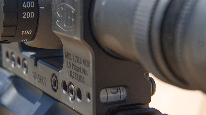 Leupold Mark 83.5-25x56mm M5B2 bubble level