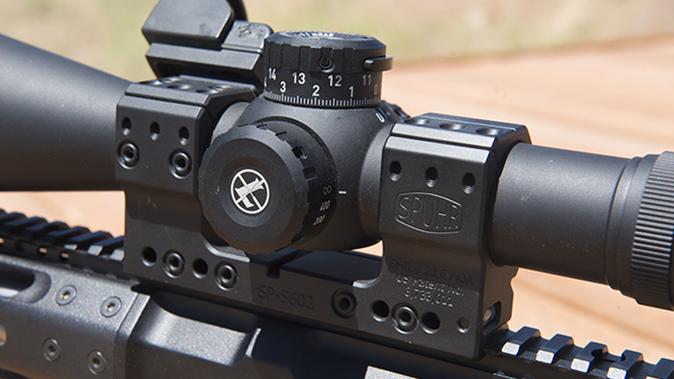 Leupold Mark 83.5-25x56mm M5B2 side view