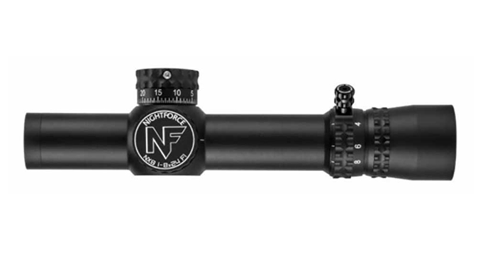 Nightforce NX8 1-8x24 F1 scope right profile