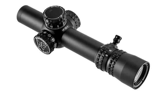 Nightforce NX8 1-8x24 F1 scope angle