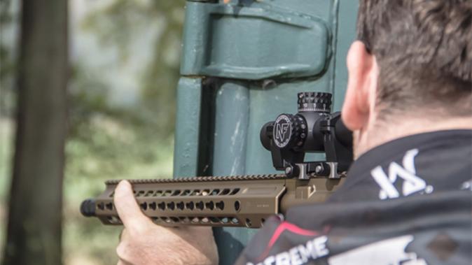 Nightforce NX81-8x24 F1 scope aiming