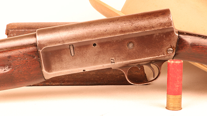 Remington Model 11 shotgun closeup