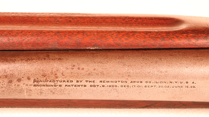 Remington Model 11 shotgun barrel markings