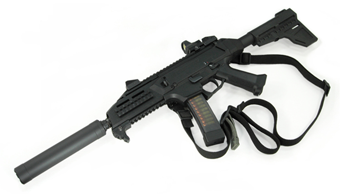 American Clandestine Equipment SMG9-SC suppressor attached