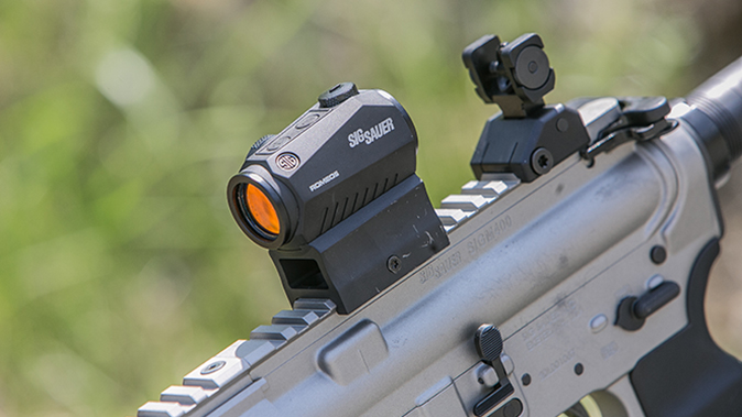 Sig Sauer M400 Elite rifle red dot sight