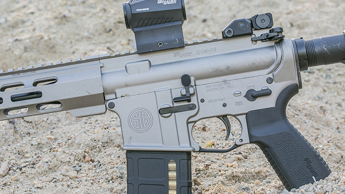 Sig Sauer M400 Elite rifle left profile