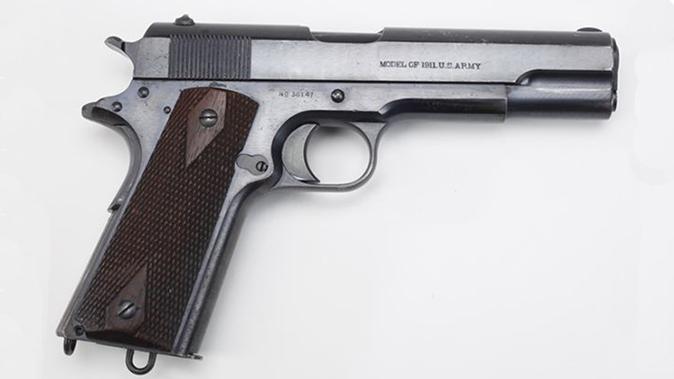 us army surplus m1911 pistol right profile