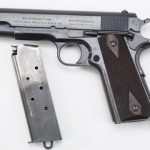 us army surplus m1911 pistol left profile with magazine