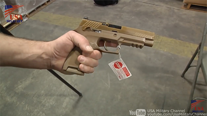 us army m17 pistol right profile