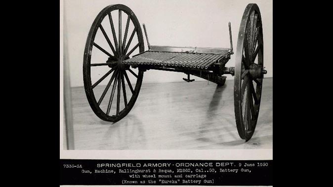 Billinghurst-Requa Battery Gun First machine gun Armory