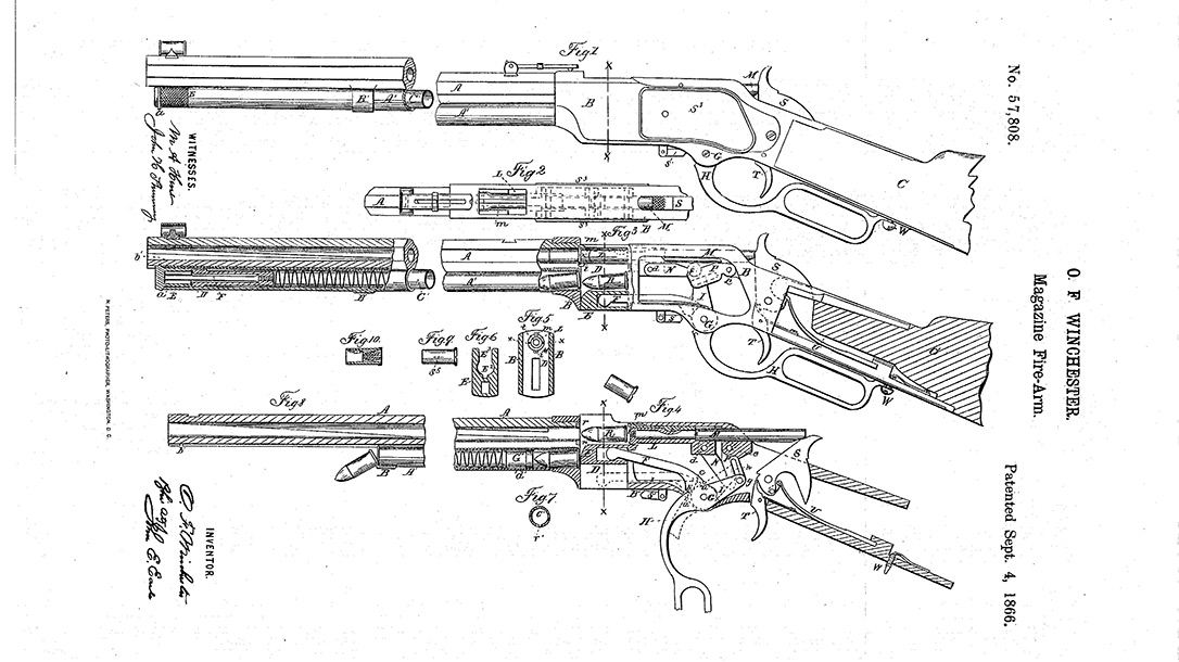 Oliver Winchester lever-action shotgun diagram
