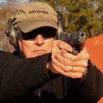 Custom Wilson Combat Glock 19 Gen4 pistol aim