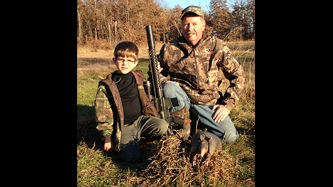 bill wilson ar hunting with son