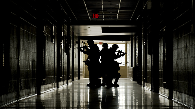 active shooter hallway school