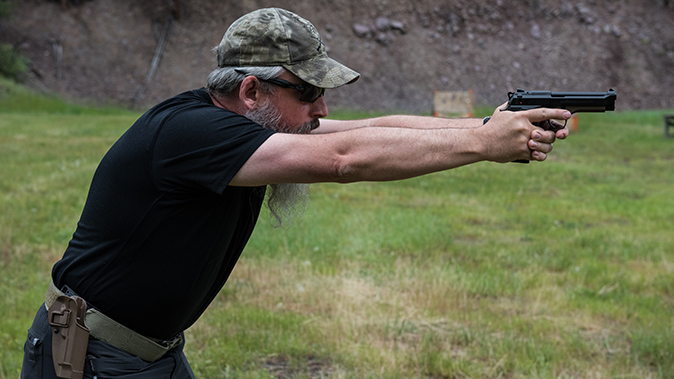 shooting stances fighting stance bart bauer right profile