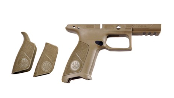 beretta APX No Finger Grooves Grip Frame dark earth