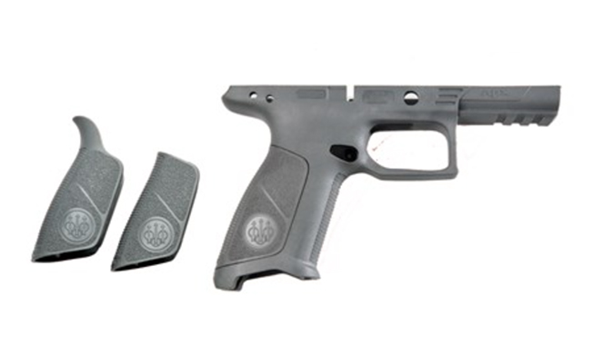 beretta APX No Finger Grooves Grip Frame wolf gray