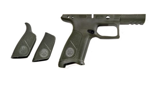 beretta APX No Finger Grooves Grip Frame olive drab