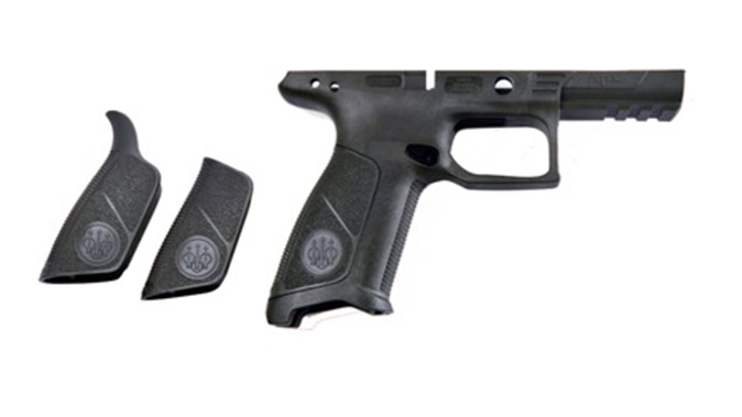 beretta APX No Finger Grooves Grip Frame black