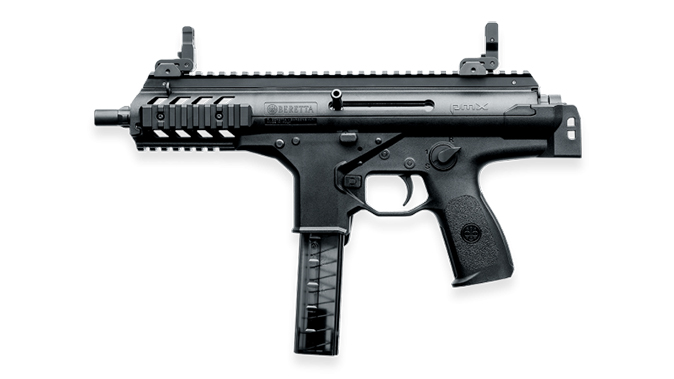 Beretta PMX submachine gun folded left profile