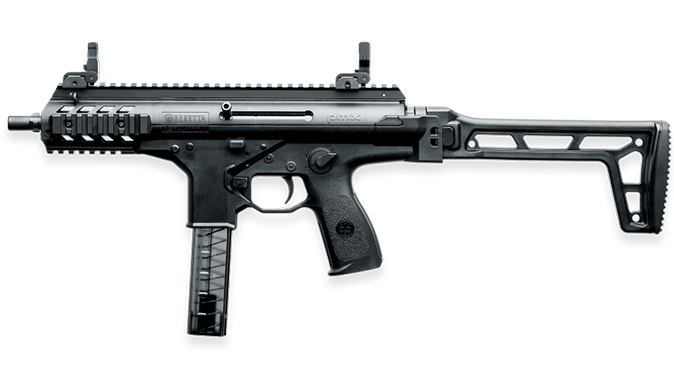 Beretta PMX submachine gun extended left profile