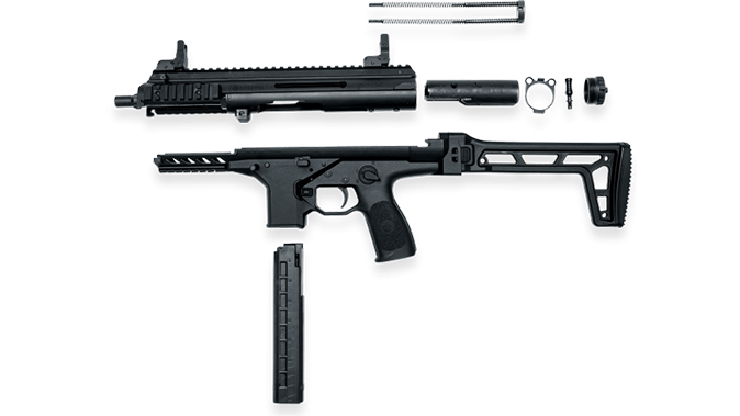 Beretta PMX submachine gun disassembled