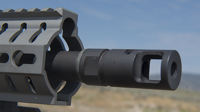CMMG MkW-15 XFT2 rifle brake right profile