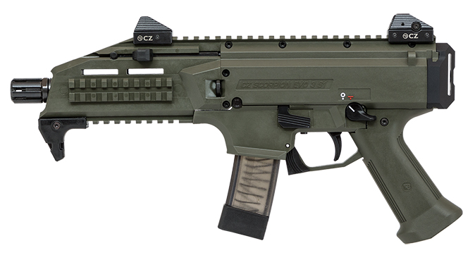 CZ Scorpion EVO 3 S1 Pistol OD Green left profile