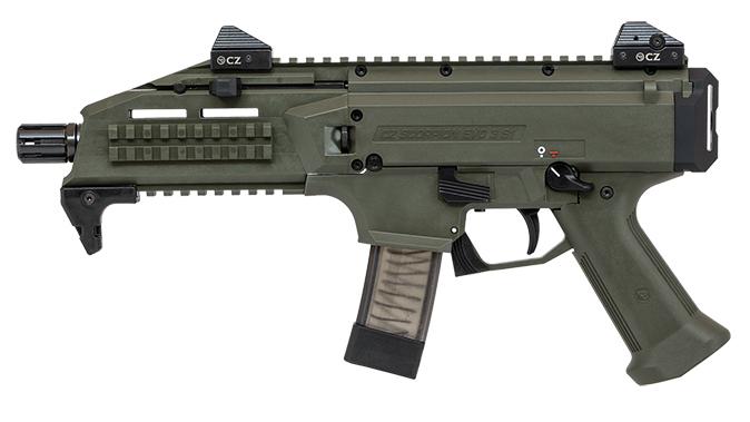 CZ Scorpion EVO 3 S1 Pistol OD Green left profile