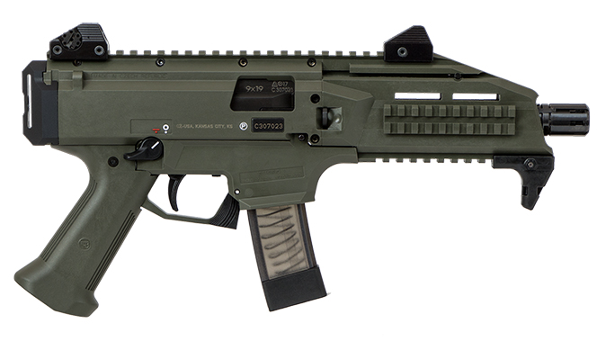 CZ Scorpion EVO 3 S1 Pistol OD Green right profile