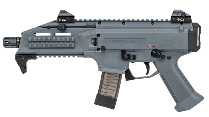 CZ Scorpion EVO 3 S1 Pistol Battleship Grey left profile