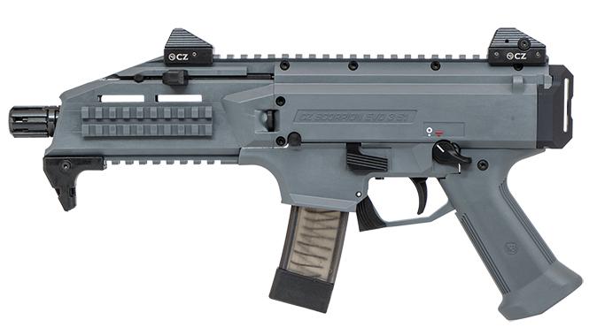 CZ Scorpion EVO 3 S1 Pistol Battleship Grey left profile