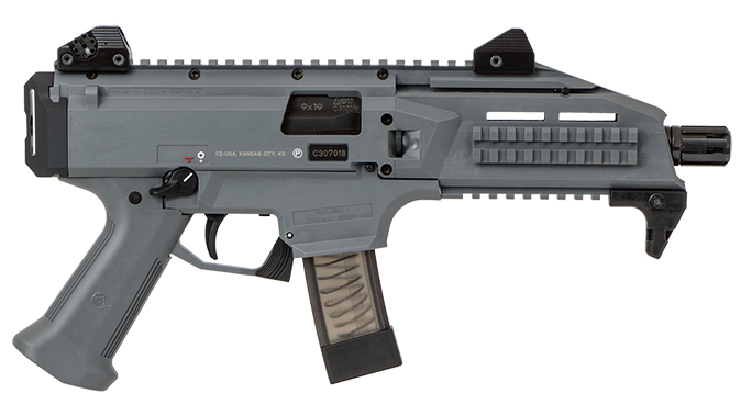 CZ Scorpion EVO 3 S1 Pistol Battleship Grey right profile