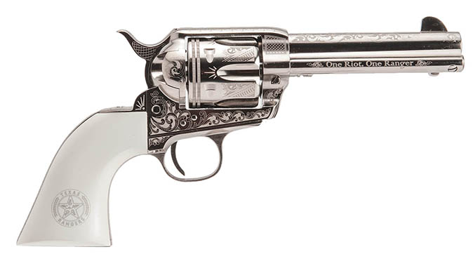Cimarron Texas Ranger Engraved Model P cowboy guns