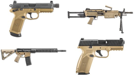 fn fde blk pistol rifle series