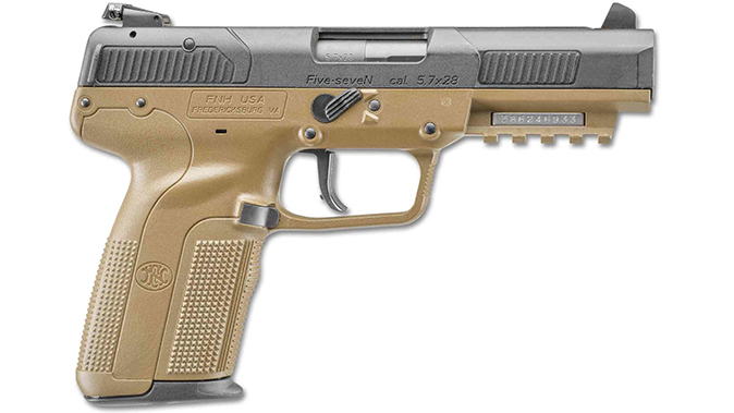FN FDE BLK fn five-seven pistol right profile