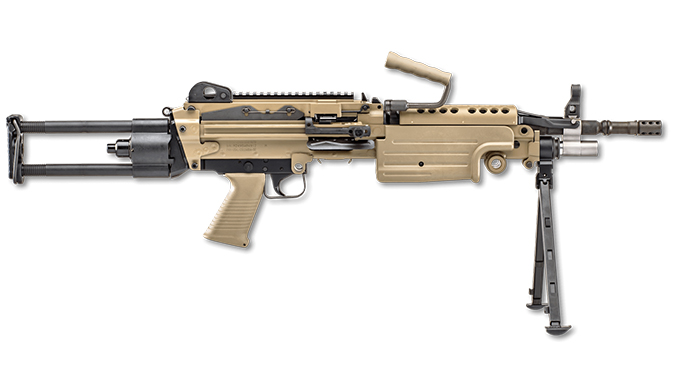 FN FDE BLK fn m249s para rifle right profile