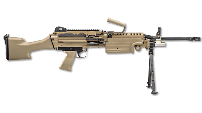 FN FDE BLK fn m249s standard rifle right profile
