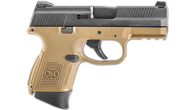 FN FDE BLK FNS-9 Compact pistol right profile