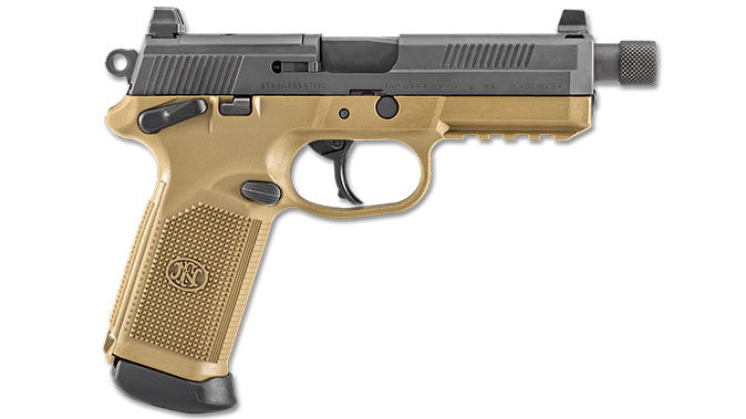 FN FDE BLK FNX-45 TACTICAL pistol right profile