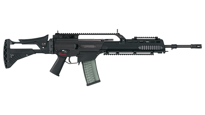 HK G36 rifle right profile